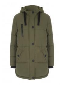 Womens Khaki Padded Coat