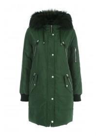 Womens Khaki Long Line Coat