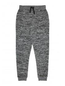 Older Girls Black Brushed Joggers