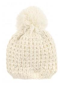 Older Girls Cream Metallic Fleck Hat