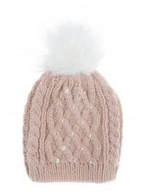 Older Girls Pearl and Sequin Beanie Hat