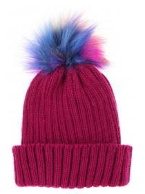Older Girls Pink Pom Hat