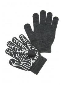 Older Boys Grey Cobweb Gripper Gloves