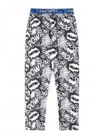 Boys Monochrome Comic Pyjama Bottoms