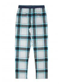 Boys Blue Check Pyjama Bottoms