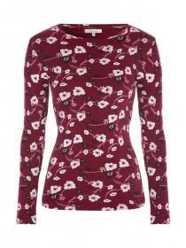 Womens Floral Long Sleeve Top