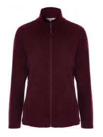 Womens Purple Fleece Jacket