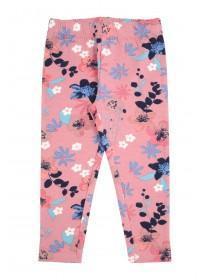 Younger Girls Pink Floral Leggings