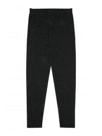 Older Girls Black Polka Dot Leggings