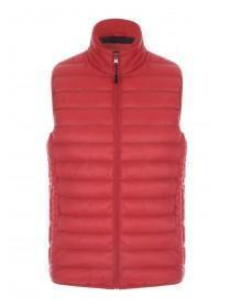 Mens Red Lightweight Gilet