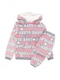 Older Girls Slogan Fleece Pyjamas