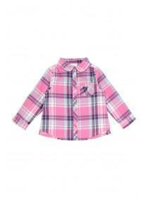 Baby Girls Pink Check Shirt