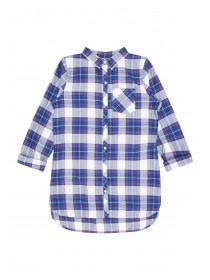 Older Girls Blue Check Shirt