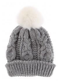 Older Girls Grey Beanie Hat