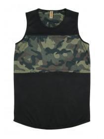 Older Boys Black Camo Panel Vest