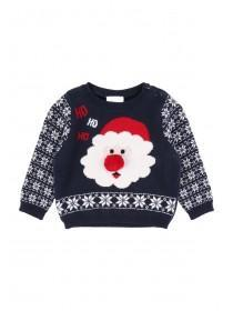 Baby Boys Santa Christmas Jumper