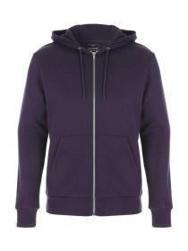 Mens Purple Zip Hoody