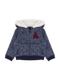 Baby Boys Blue Fleece Hoody