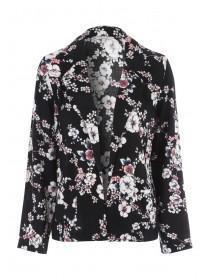 Womens Black Viscose Jacket