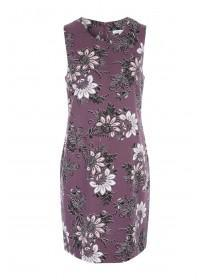 Womens Purple Floral Dress