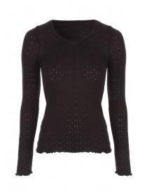 Womens Black Long Sleeve Thermal Vest