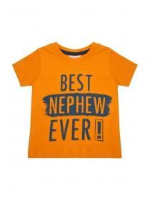 Baby Boys Orange Best Nephew T-Shirt