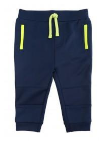 Baby Boys Dark Blue Scuba Feel Joggers