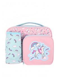Girls Pink Unicorn Lunch Bag