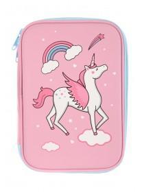 Girls Pink Unicorn Pencil Case