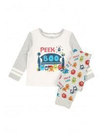 Baby Boys Grey Monster Pyjama Set