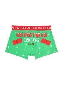 Mens Green Novelty Christmas Boxers