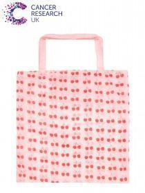 Pink Cherry Cancer Research UK Bag For Life