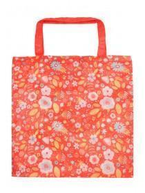 Red Floral Cancer Research UK Bag For Life