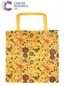 Yellow Floral Cancer Research UK Bag For Life