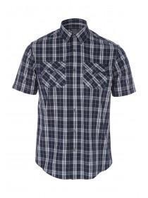 Mens Navy Short Sleeve Shirt