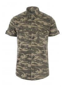 Mens Camo Short Sleeve Shirt