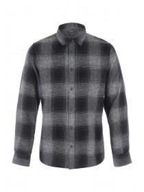 Mens Charcoal Check Shirt