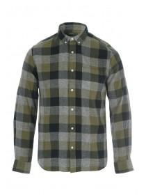 Mens Khaki Check Shirt