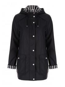 Womens Dark Blue Mac Coat