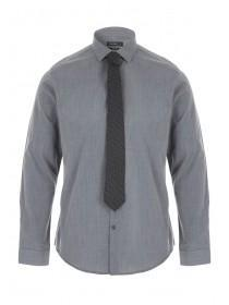 Mens Charcoal Shirt & Tie Fashion Pack