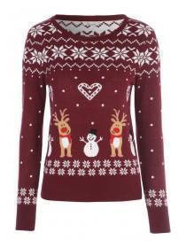 Womens Pattern Christmas Jumper