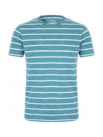 Mens Teal Stripe T-Shirt