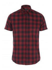 Mens Red Short Sleeve Shirt