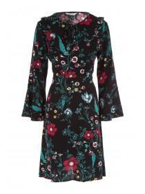 Womens Floral Ruffle Dress