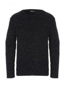 Mens Flecked Moss Stitch Jumper