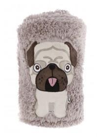 Brown Pug Blanket