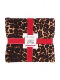 Leopard Print Fleece Blanket