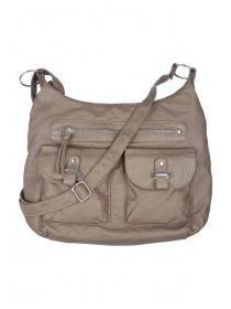 Womens Beige Messenger Bag