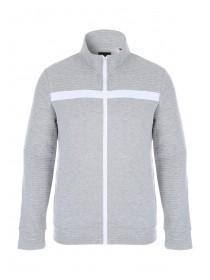 Mens Grey Zip Through Jacket
