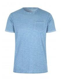 Mens Basic Light Blue Space Dye T-Shirt